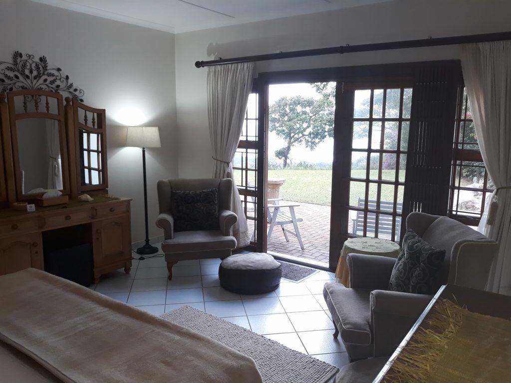 Bedroom sliding doors to patio